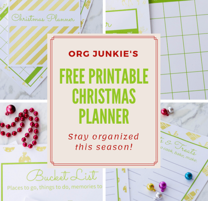 Free Printable Christmas Planner at I'm an Organizing Junkie blog