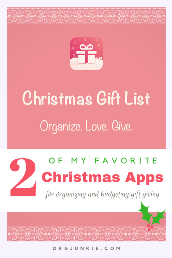 2 of my favorite Christmas Apps for keeping me organized!