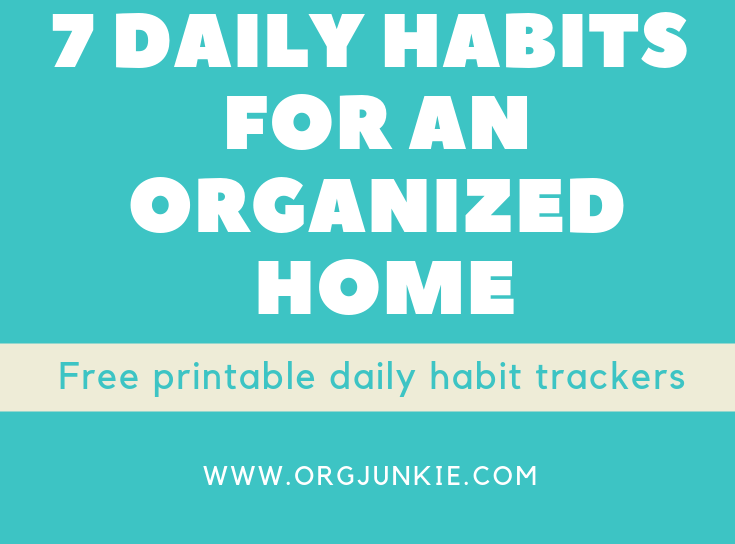 image regarding Daily Habit Tracker Printable called 7 Every day Behavior for an Well prepared Dwelling with Absolutely free Printable