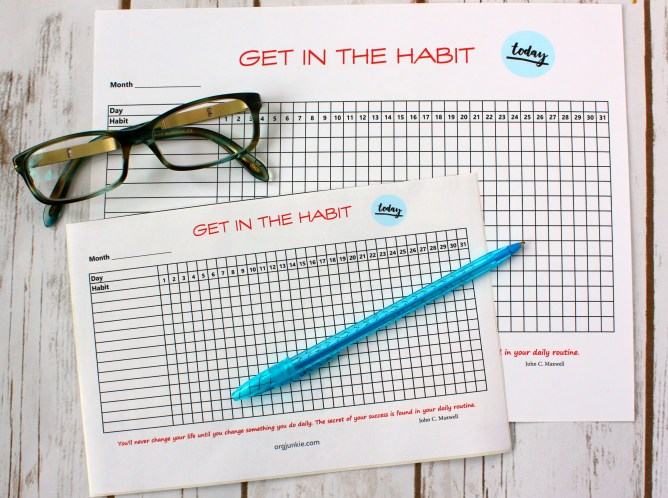 Free Printable Daily Habit Trackers