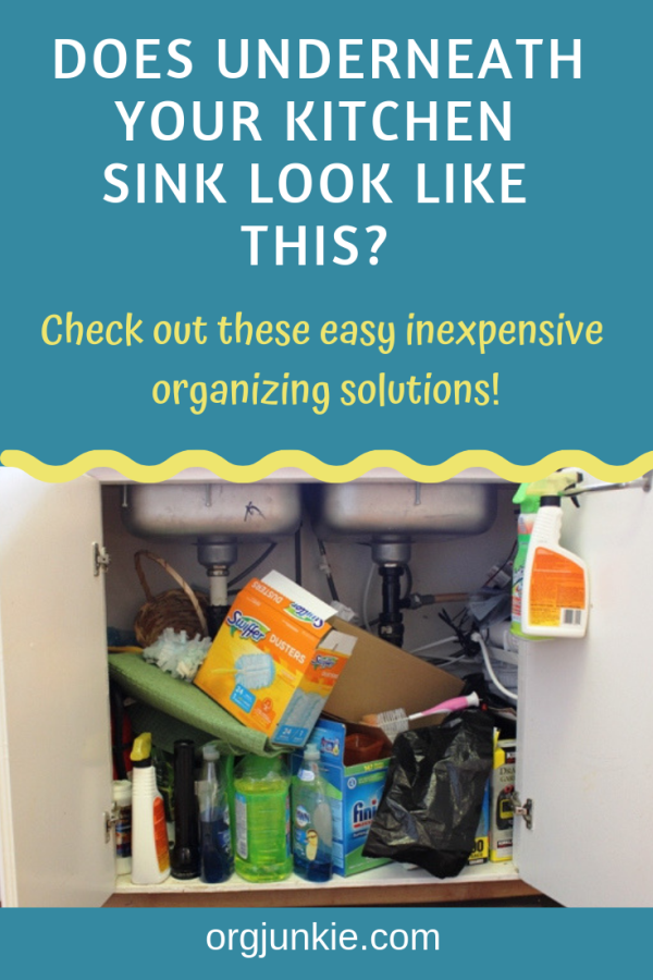 Organizing Underneath the Kitchen Sink on a Budget! at I'm an Organizing Junkie blog