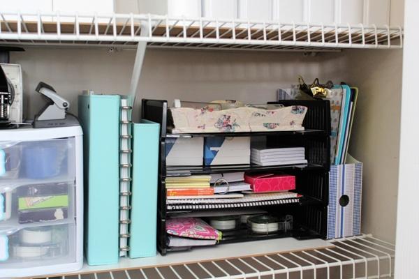 My Organized Office Closet