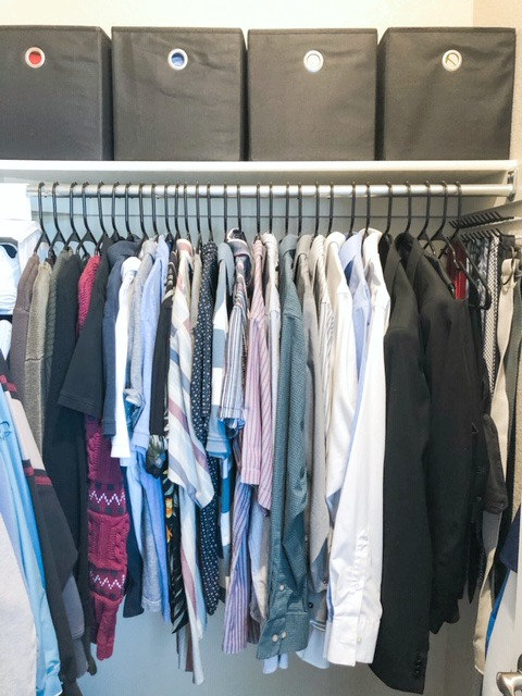 closet organizing after