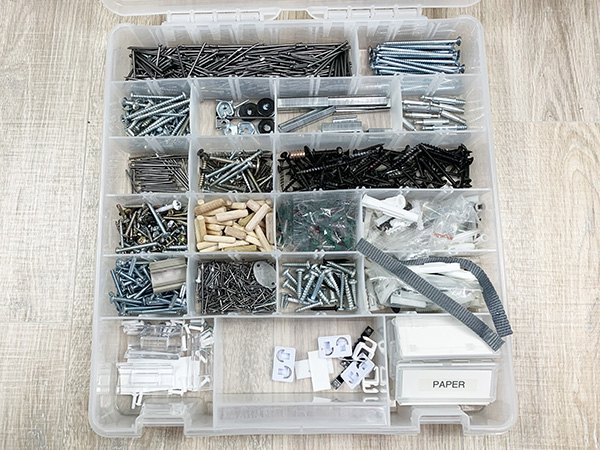 Home Organizing Solutions: Divided Storage Containers for tool fixings