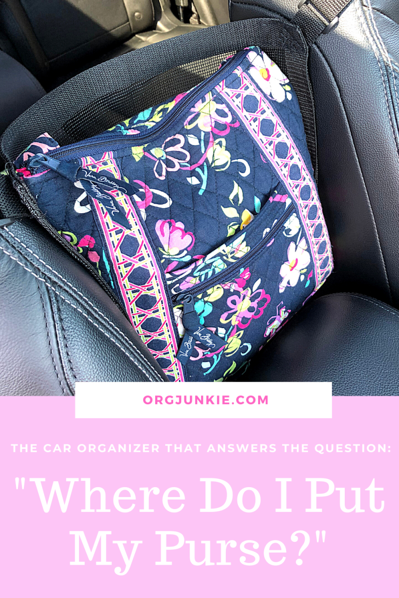 """Car Caché ~ The Car Organizer That Answers the Question """"Where Do I Put My Purse?"""" at I'm an Organizing Junkie blog"""