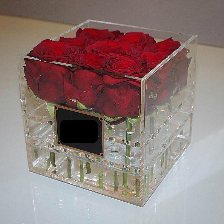 Акриловые коробки москва для цветов