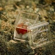 Шкатулка для свадебных колец из акрила