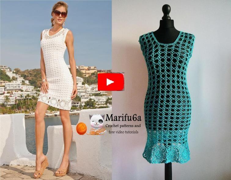 How to crochet summer dress tunic free tutorial pattern by marifua