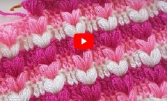 Kalpli Fıstık Lif – Crochet Puff Stitch Blanket