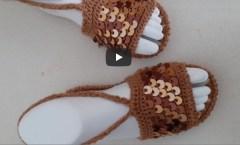Yazlik sandalet yapımı (28-29numara)