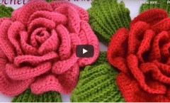 Tığ işi 3D dev Gül çiçekleri nasıl yapılır