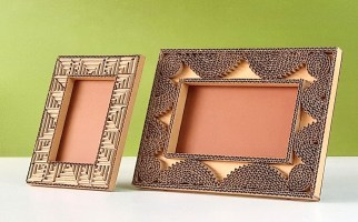 How to create beautiful photo frame only using cardboard / easy homemade DIY