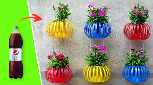 Recycle Plastic Bottles Into Hanging Lantern Flower Pots for Old Walls – Vertical Garden Ideas