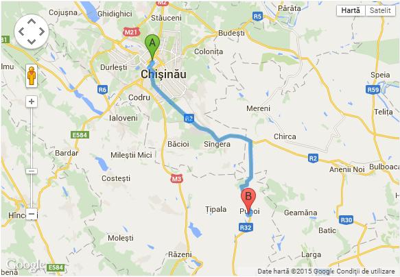 harta Chisinau - Puhoi Asconi