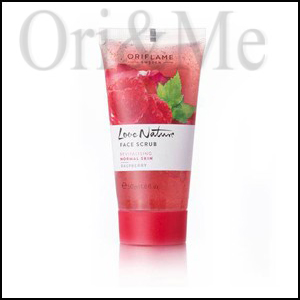 Love Nature Face Scrub Raspberry