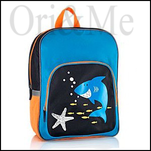 200f01cbda2 Sea adventures in full swing! Go on a journey with a cheerful shark – easy  and fun! Adjustable strap with buckle. With reflective details. For children  from ...