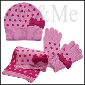 Candy Bow Hat, Scarf and Gloves