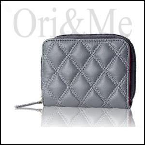 Grey Quilted Wallet