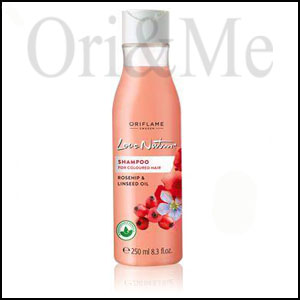 Love Nature Shampoo For Color-treated Hair With Rod and Flaxseed Oil