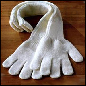 White Winter Gloves
