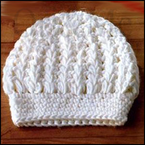 White Winter Hat