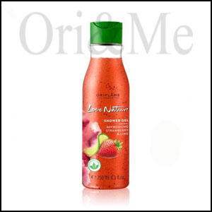 Love Nature Exfoliating Shower Gel Strawberry & Lime