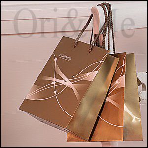 Elegant Gold Christmas Gift Bag
