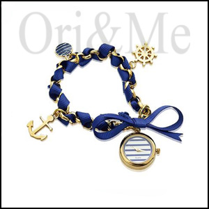 Navy Watch and Bracelet