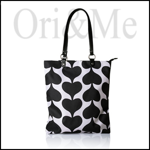 Contrast Heart Tote