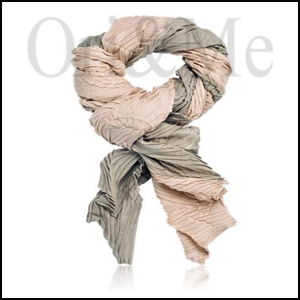 Heartbeat Pleated Scarf