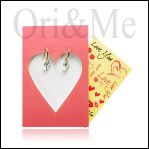 Valentina Gift Card with Earrings