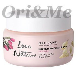 LOVE NATURE Nourishing Face Cream with Organic Oat & Goji Berry