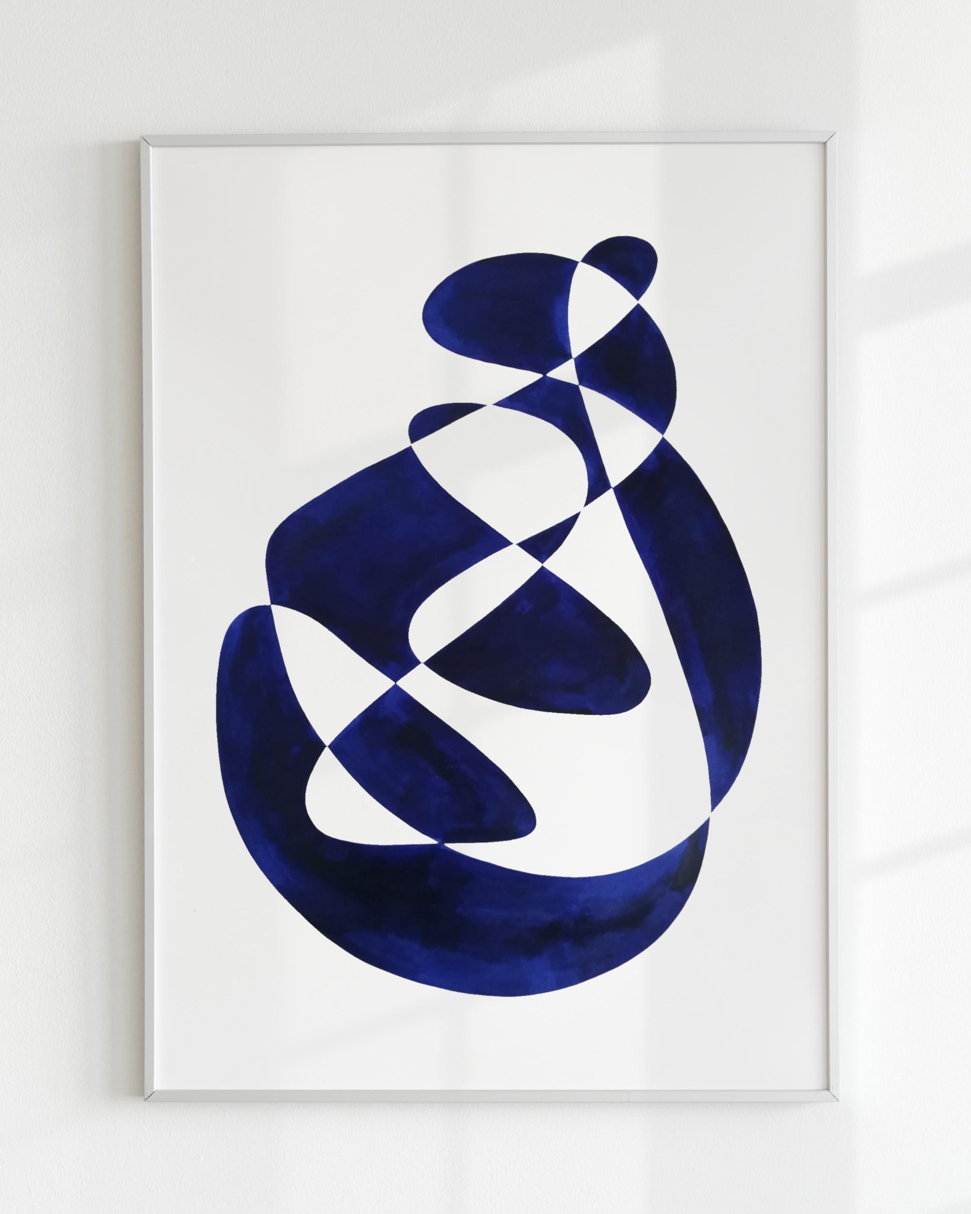 SHAPE STUDY – Bleu de prusse small I