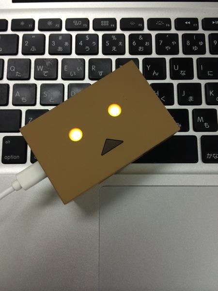 Cheero power plus danboard version mini 充電中