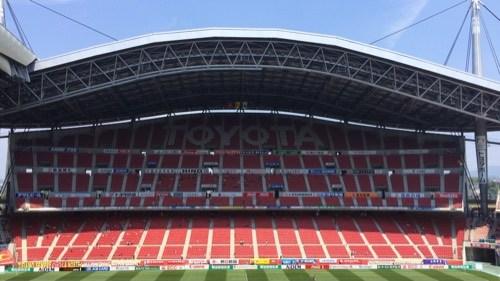 2015 J1ファーストステージ第14節、名古屋グランパス対モンテディオ山形の試合前の豊田スタジアム
