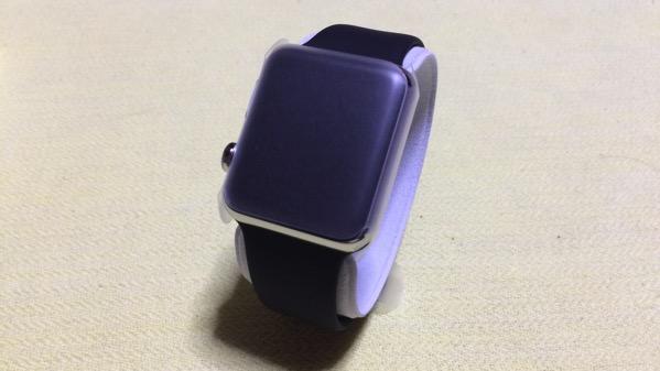 Apple watch42mmステンレススチールケースとスポーツブラックバンド