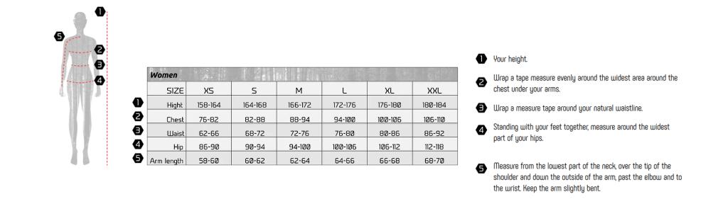 OLAND female size chart