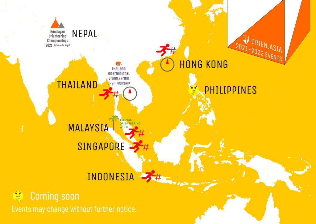 Vi planerar fler tävlingar i Asien 2021/2022, i samband med återöppningarna till turister.