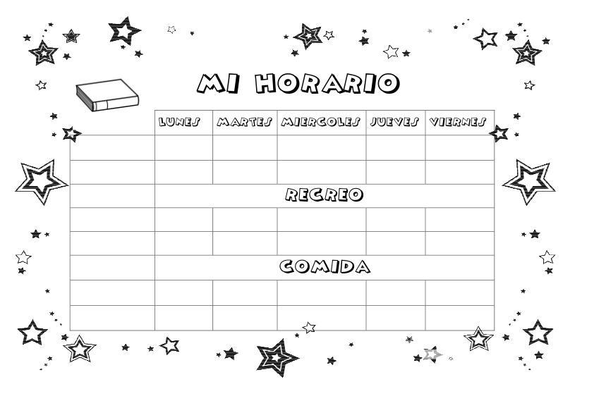 Plantilla Horario Word – I Started