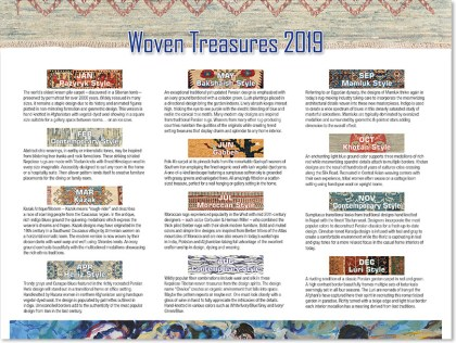 """Woven Treasures"" 2019 ~ Page 2 ~ Descriptions of Rugs"