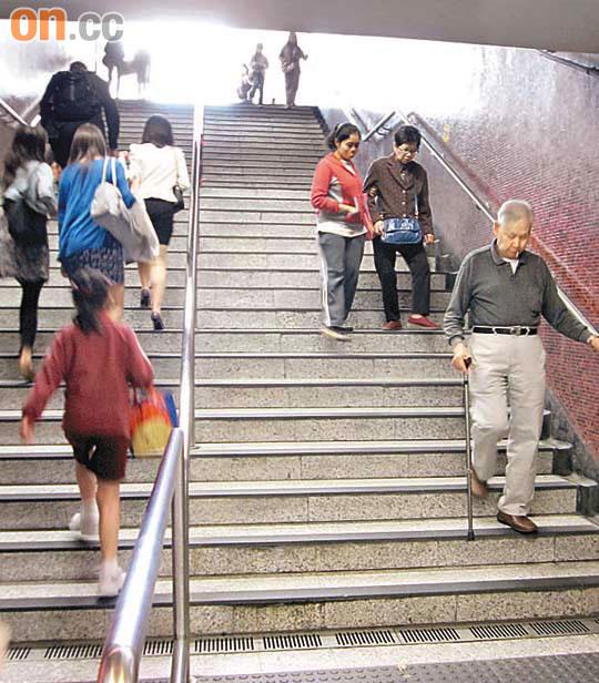 港鐵太子站欠電梯不便 - 東方日報