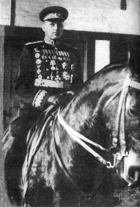 Soviet Marshall Konstantin Rokossovsky at the Victory Parade in Moscow, June 24, 1945