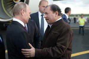 Daniel Ortega greeting Vladimir Putin in Managua, July 2014. Source: Kremlin.ru