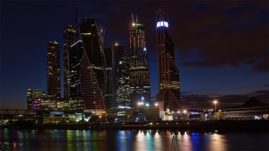 Moscow City brand new business centre in the heart of the Russian capital.