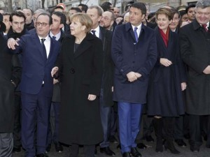 The organizers want to commemorate the victims of Auschwitz standing side by side with the leaders of Ukraine's fascist regime (as it was in Paris).
