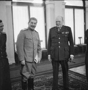 Stalin and Churchill in Yalta, February 1945.