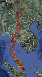 Kunming-Singapore railroad.