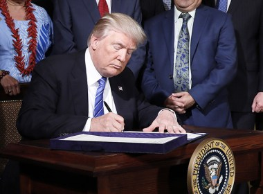 Pres.Trump signing snctions bill, Aug 2, 2017