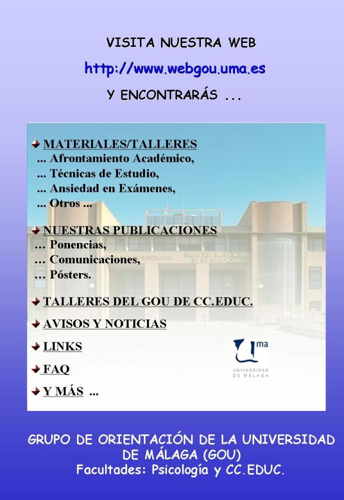 UNIVERSIDAD DE MÁLAGA. FACULTAD DE PSICOLOGÍA (2/2)