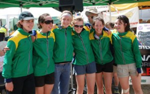 The Women's JWOC Team celebrate their selection.